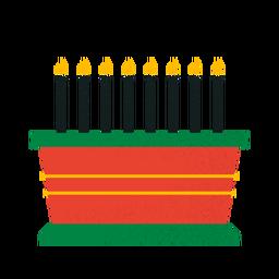 Tazón de velas Kwanzaa