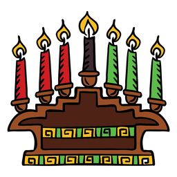 Kwanzaa candles hand drawn color