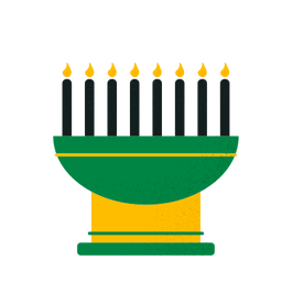Kwanzaa velas kinara
