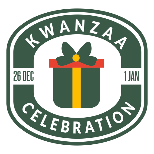 Kwanzaa celebration lettering