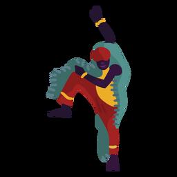 Kwanzaa Charakter tanzen hüpfen Mann
