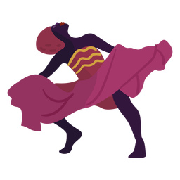 Kwanzaa character dancing woman pink
