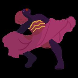 Kwanzaa personaje bailando mujer rosa
