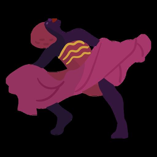 Personaje de Kwanzaa bailando mujer rosa