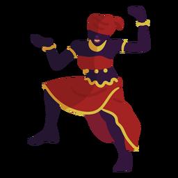 Kwanzaa Charakter tanzende Frau rot