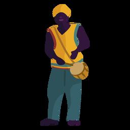 Homem de caráter Kwanzaa com tambor