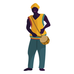 Kwanzaa personaje hombre con tambor
