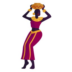 Kwanzaa character woman with pot
