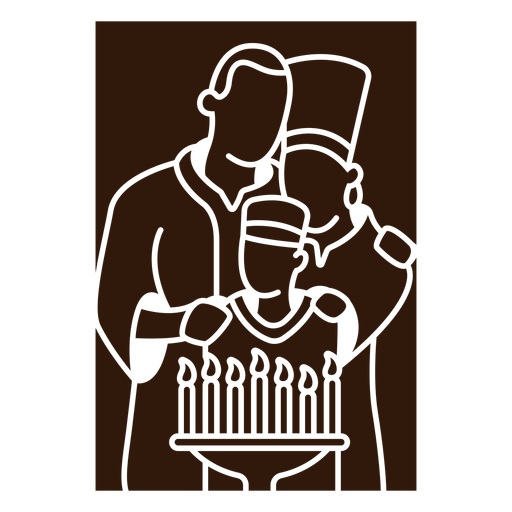 Kwanzaa family reading Transparent PNG