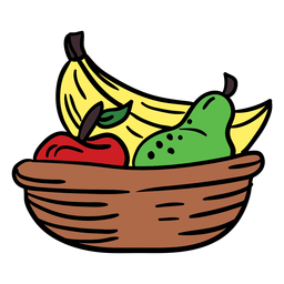 Color dibujado a mano frutas Kwanzaa
