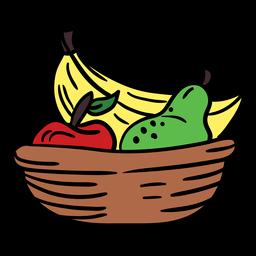 Frutas kwanzaa color dibujado a mano