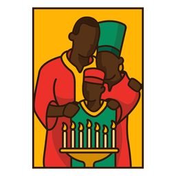 Kwanzaa illustration family