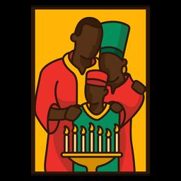 Kwanzaa illustration family