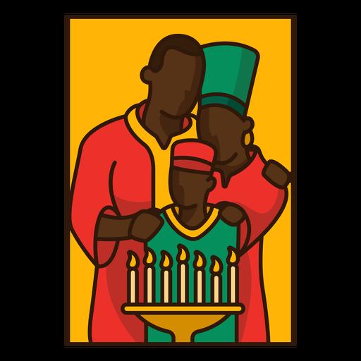 Familia de ilustración de Kwanzaa