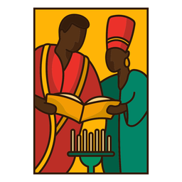 Kwanzaa illustration family reading