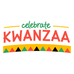 Kwanzaa lettering comemorar bandeiras de kwanzaa