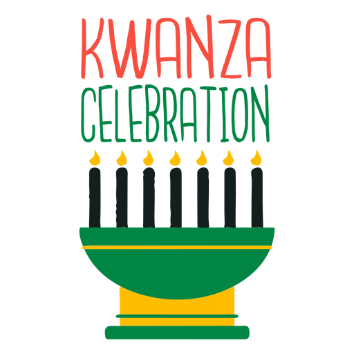 Celebración de kwanzaa de letras de Kwanzaa