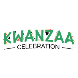 Kwanzaa lettering kwanzaa celebration green