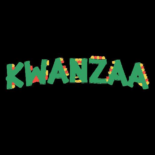 Kwanzaa letras kwanzaa celebración verde