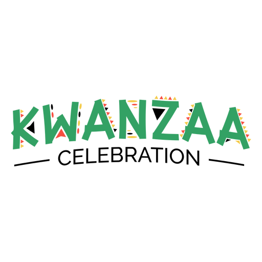 Kwanzaa lettering kwanzaa celebration green