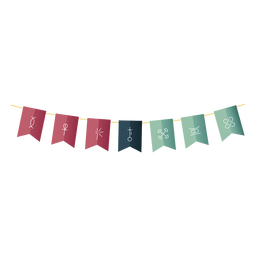 Kwanzaa Symbole Bendera Gradient