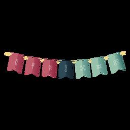 Kwanzaa symbols bendera gradient