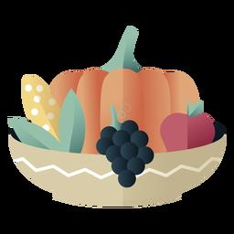 Kwanzaa symbols bowl gradient