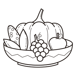 Kwanzaa symbols bowl stroke