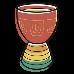 Kwanzaa Symbole Trommel Farbstrich