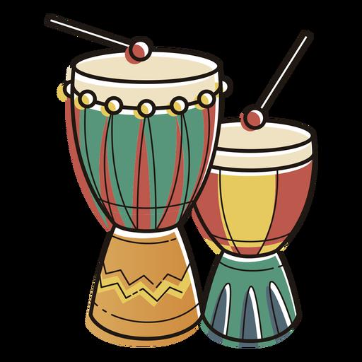 Kwanzaa símbolos tambores color trazo Transparent PNG