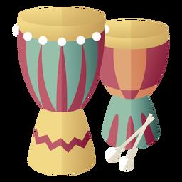 Kwanzaa símbolos tambores gradiente