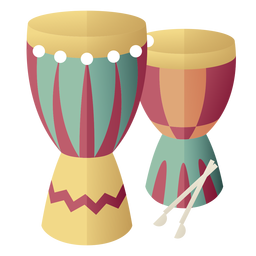 Kwanzaa symbols drums gradient