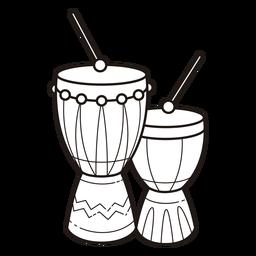 Kwanzaa symbols drums stroke