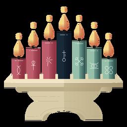 Kwanzaa símbolos candelabro fradient