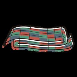 Símbolos de kwanzaa trazo de color mkeka