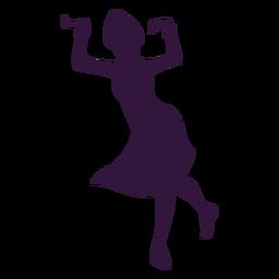 Kwanzaa woman dancing character