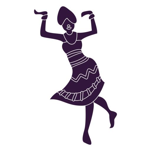 Kwanzaa mujer bailando personaje Transparent PNG