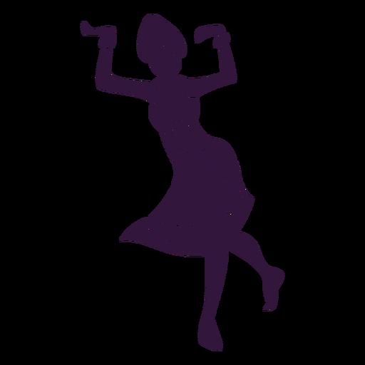 Kwanzaa woman dancing character Transparent PNG