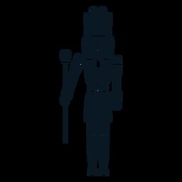 Cascanueces rey con bastón