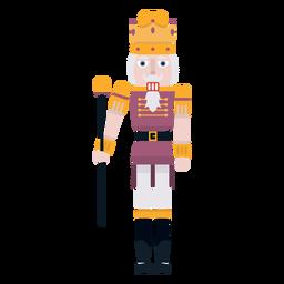 Rei quebra-nozes com cor de cana
