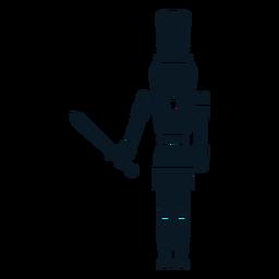 Quebra-nozes com espada