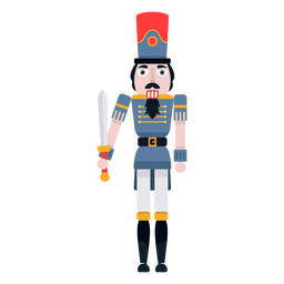 Nutcracker with sword color