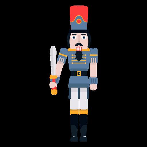 Cascanueces con espada color