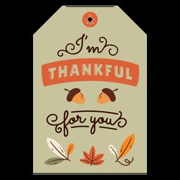 Bolota de cartão de ação de graças