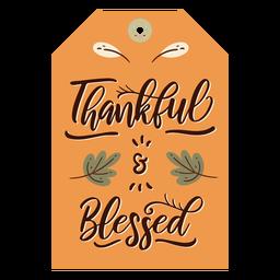 Cartão de ação de Graças laranja