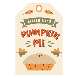 Thanksgiving card pie