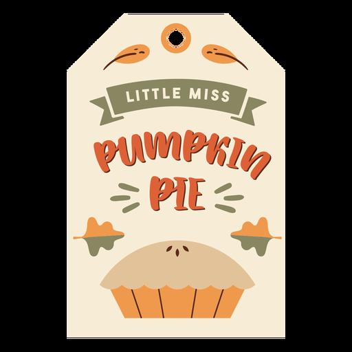 Thanksgiving card pie