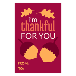 Thanksgiving cards acorns
