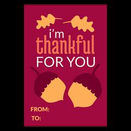 Thanksgiving cards acorns
