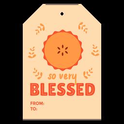 Thanksgiving cards pie